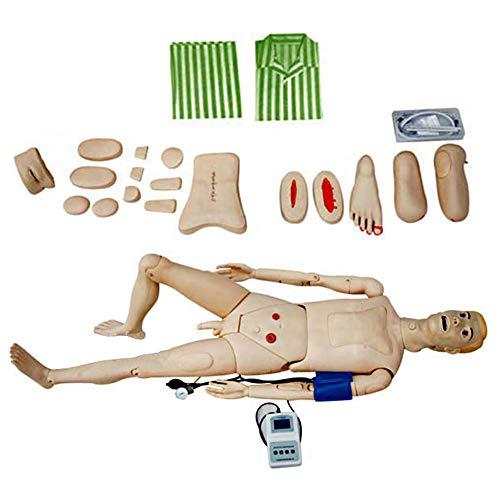 Patient Care Manikin, Multi-Functional Nursing Manikin First Aid Trauma Human Anatomical Model, Patient Care Simulator for Nursing Medical Training