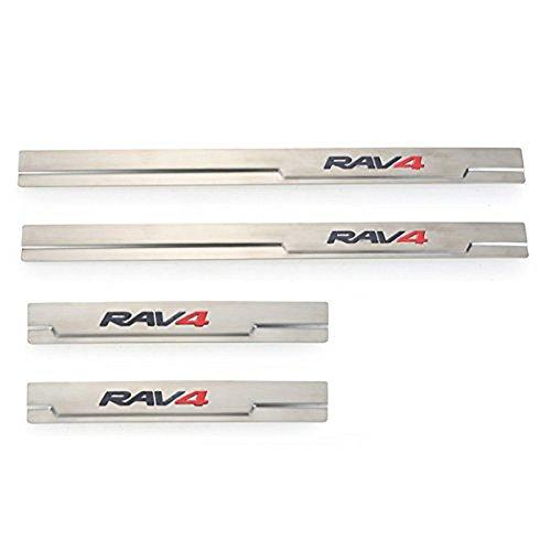 Ibetter Stainless Steel 4pcs/Set Sports Car Door sill scuff plate Guard Sills for Toyota RAV4 2013 2014 2015 2016