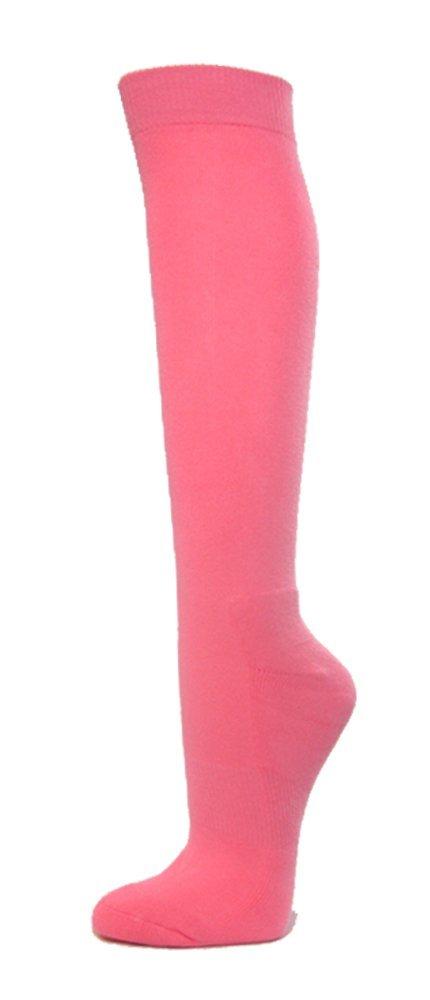 COUVER プレミアム品質 ニーハイ スポーツアスレチック 野球 ソフトボール ソックス B00E9FZJDU Medium|ピンク ピンク Medium