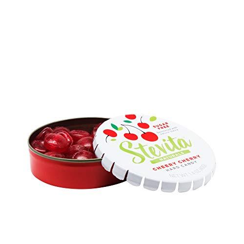 Stevita Stevia Sweet Candy Natural Cherry Flavor - 1.4 Ounces - Sugar Free Hard Candy, Stevia Sweetened - USDA Organic, Non GMO, Keto, Paleo, Gluten-Free - 26 Servings