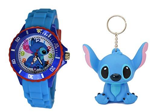 Keychain Collectible Watch - Disney Lilo & Stitch Gift Set Watch & Keychain For Children
