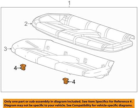 GM OEM Rear Seat-Seat Cushion Pad Clip 20823966
