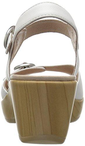 Dansko Womens June Flat Sandal White Full Grain fKC4QpZ