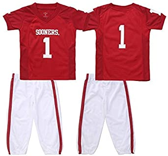 FAST ASLEEP NCAA Boys Toddler//Junior Football Uniform Pajamas