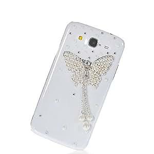 HKCFCASE Brillante Lujo Crystal Bling Diamante Funda Carcasa Caso Tapa Cover para Samsung Galaxy Mega 5.8 I9150
