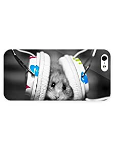 3d Full Wrap Case For HTC One M8 Cover Animal Mouse With Headphones