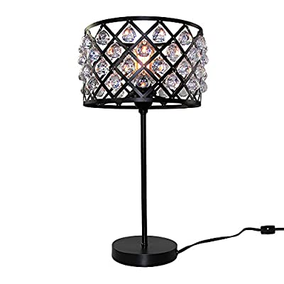 LNC Vintage Industrial K9 Crystal Desk Lamp ( Bulb Not Included )
