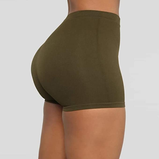 LARNOR Womens Tie-Dye Gradient Yoga Shorts Stretch Sports Pants High Waist Short Leggings