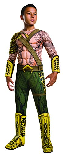 [Rubie's Costume Batman v Superman: Dawn of Justice Aquaman Deluxe Child Costume, Medium] (Tv Movie Childrens Costumes)