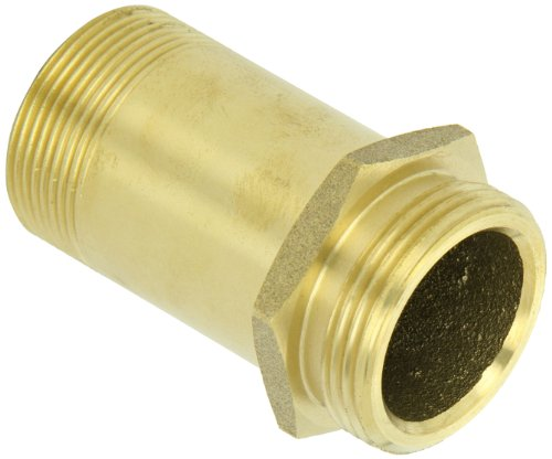 Rack Nipple (Moon 5358-1521 Brass Brass Rack Nipple, 1-1/2