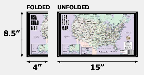 Streetwise USA Road Map Laminated Major Highway Map of the United