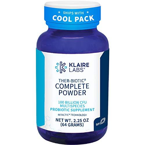 Klaire Labs Ther-Biotic Complete Probiotic Powder - 100 Billion High CFU Blend, The Original Hypoallergenic Probiotic for Men & Women, Dairy-Free (60 Servings / 64g)