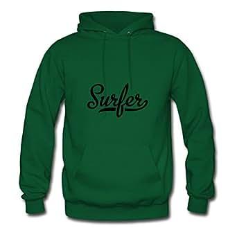 Surfer Cool X-large Sweatshirts Customizable For Women Green