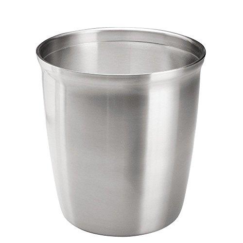 Interdesign Chrome Basket - InterDesign Forma Wastebasket Trash Can, Brushed Stainless Steel