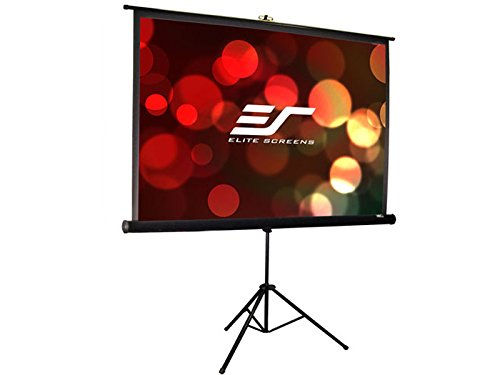 Elite Screens Tripod Pro Series, 99-INCH 1:1, Adjustable Multi Aspect Ratio Portable Indoor Outdoor Projector Screen, 8K / 4K Ultra HD 3D Ready, 2-YEAR WARRANTY, T99UWS1-PRO