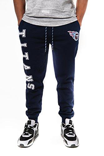 NFL Tennessee Titans Men's Jogger Pants Active Basic Fleece Sweatpants, Small, Navy