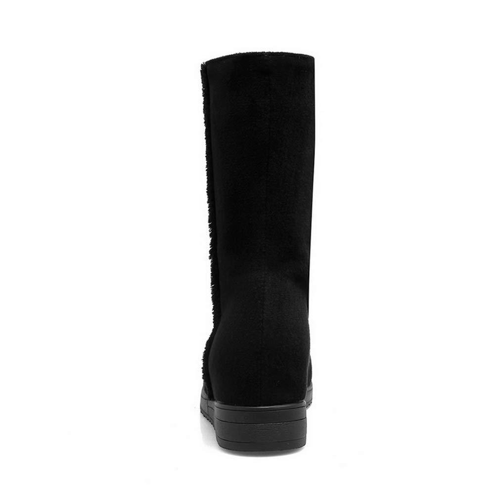 BalaMasa Womens Studded Bucket-Style Nubuck Urethane Boots ABL11610