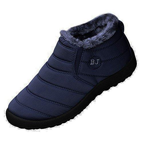 Orangetime Womens Winter Snow Ankle Boots-Comfort Warm Fur Lining Waterproof Outdoor Slip On Booties Sneakers