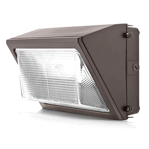 Parmida LED Wall Pack Light, 100W (500W MH Replacement), 0-10V Dimmable, 5000K, 12000LM, DLC 4.2 & ETL, Made with Real Glass, Waterproof Rated, Outdoor Wall Light