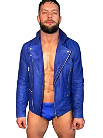 WWE Superstar Finn Balor Blue Jacket at Amazon Men's