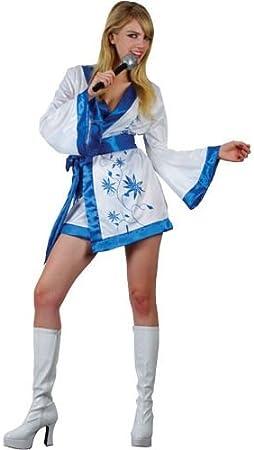 ABBA Super Trouper Fancy Dress Costume UK 14-16 (disfraz): Amazon ...