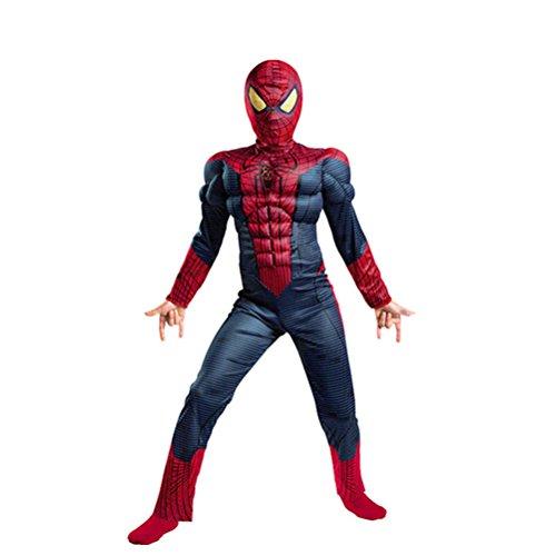 GradPlaza Spiderman Cosplay Children's Performance Costume Set for -