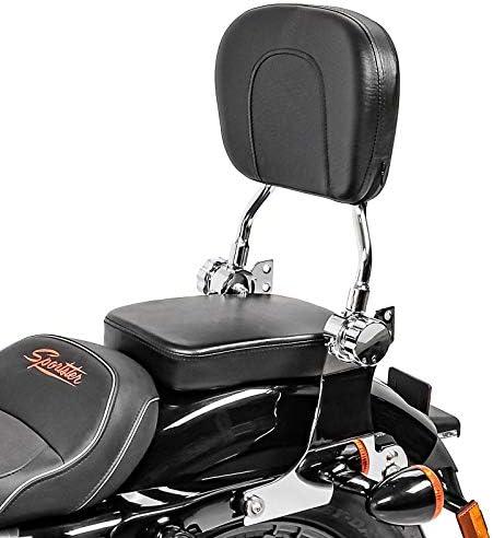Sissy Bar mit Gep/äcktr/äger abnehmbar f/ür Harley Davidson Sportster Modelle 04-20 Chrom