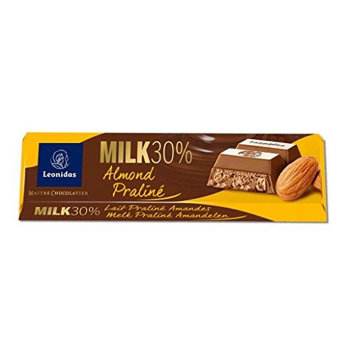 Leonidas Belgian Chocolates - 50 gr Batons - Milk Almond (Leonidas Pralines)