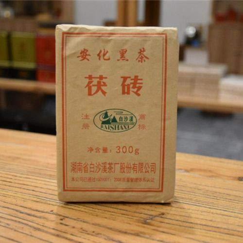 FuZhuan China Anhua Baishaxi Slimming Dark Tea 300g Hei Cha Fu Brick Black Tea Fu Brick Bai Sha Xi