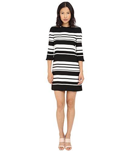 Kate Spade New York Women's Cape Stripe Dizzy Dress, Black/Cream, 6