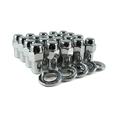 "Cragar Standard Mag Lug Nut 1/2""-20 with Center Washer Set of 20 Pcs: Automotive"