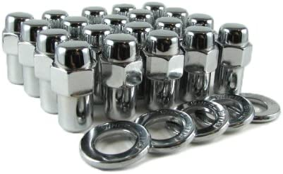 1//2x20 black lugnuts set of 20 pcs new steel open ended nuts