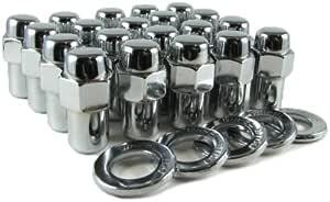 "10 Lug Nuts 1//2/"" Left Hand LH Chrome Mag Wheel Nut .75 Shank Mopar"
