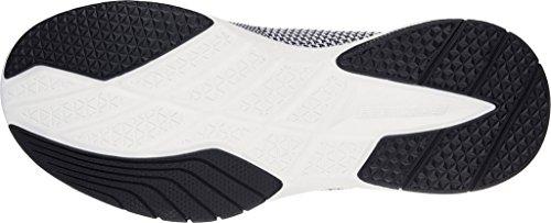 Skechers Burst Women's Black Trainer Close Knit TR White xBvF6