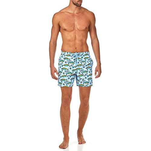 Vilebrequin sardine à l'Huile Swim Shorts - Men - Sky Blue - L by Vilebrequin