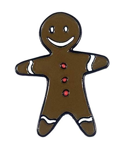 Milk Mug Designs Delicious Ginger Bread Man Cookie, Christmas Holiday Enamel pin