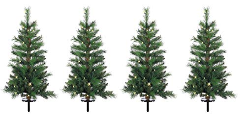 Outdoor Lighted Pine Trees in US - 5