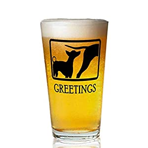 Transparent glass beer mug - Xoloitzcuintli Pint Glass,16 oz. Drinking Glass– Elegant design for the home and kitchen – lead free and BPA, 1