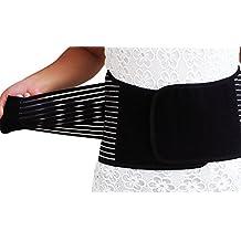 ChezMax Stabilizing Lumbar Lower Back Brace Support Belt S/M/L/XL, Blue, Black