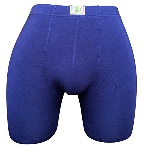 (Discover Bamboo Royal Blue Boxer Briefs (XL))
