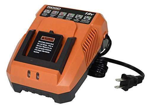 Ridgid R86091 18 Volt NiCd or Lithium Ion Dual Chemistry Cordless Tool Battery Charger (Bulk Packaged) by Ridgid