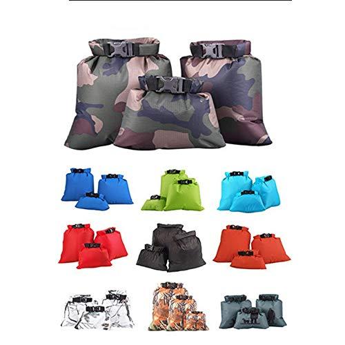 Bolsa Impermeable de Tres Piezas Bolsa Impermeable para Rafting en el r/ío Bolsa de Almacenamiento Impermeable Bolsa Mediana Grande y peque/ña para Acabados