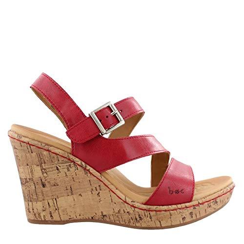 (B.O.C. Women's, Schirra High Heel Wedge Sandal RED 9 M)