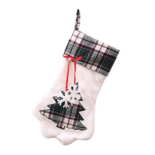 ZWNSWD WMA-Calcetín Navideño Bolsa De Regalo Colgante Lindo Garra Navidad Objetos Decorativos Bolsa De Dulces,Green