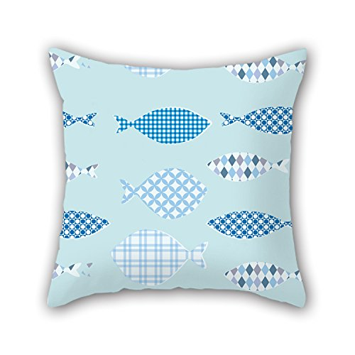 NICEPLW Fish Throw Cushion Covers ,best For Kids Boys,home Theater,wife,outdoor,teens Girls 20 X 20 Inches / 50 By 50 Cm(double Sides)