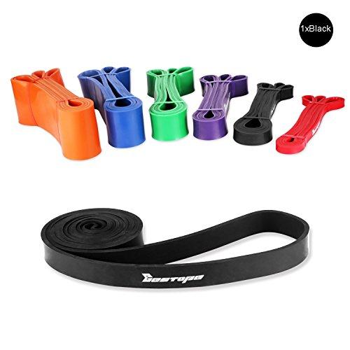 BESTOPE® Widerstand-Bänder Power Training Ausbildung Fitnessbänder Body CrossFit-band Expander Bodytrainer Tubing (Schwarz)