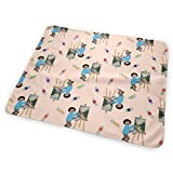 """Bob Sloth Small Print Portable Waterproof Baby Changing Pad Diaper Large Size (25.5""""x31.5"""")"""