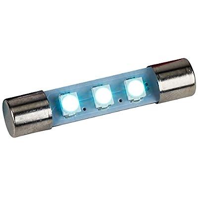 LED Fuse Lamp for Marantz Sansui Kenwood Yamaha Sony - Cool Blue 8 Volt 5 Pack