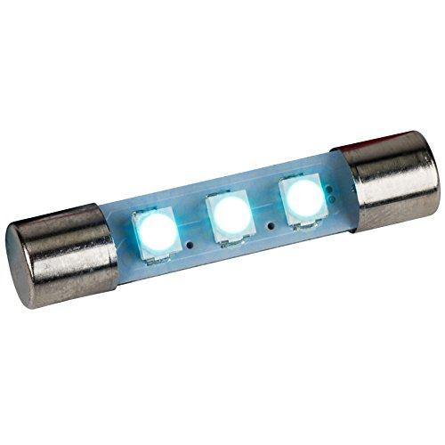Parts Express LED Fuse Lamp for Marantz Sansui Kenwood Yamaha Sony - Cool Blue 8 Volt 5 (Best Jvc Vintage Receivers)