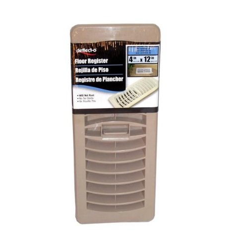 DEFLECTO RF41228 Floor Register Air Deflector (Taupe(Brown); 4- Inch x 12- Inch)